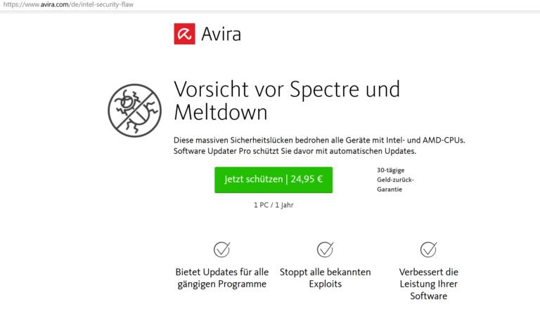 Werbeversprechen von Avira - das sollte man testen.